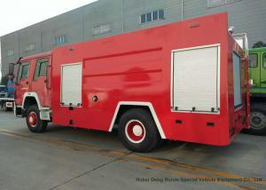 China Sino HOWO 10cbm Pumper Fire Truck / Fire Department Vehicles 8000-10000 L on sale