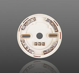China Addressable Smoke Alarm Base , Smoke Detector Relay Base With Alarm Buzzer on sale
