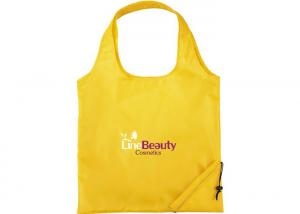 China Yellow Blue Nylon Oxford Foldable Nylon Shopping Bags Eco For Grocery on sale