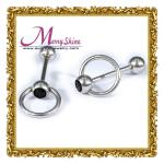 Sliver tongue barbel / nipple ring body piercing jewelry with OEM / ODM available BJ48