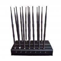 Stationary 14 antenna jammer for All 3G 4G Cellphone, Car Remote Control, VHF/UHF Radio, GPS, Wi-Fi jammer  14 band