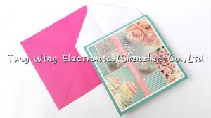China Christmas Square Shaped Musical Greeting Card with sound module on sale