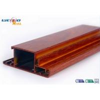 Wood Grain Surface AA6063 T5 Aluminium Extrusions Profiles For Door / Windows
