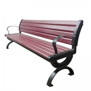 China Street Garden Park 1500mm WPC Wood Cast Iron Bench on sale