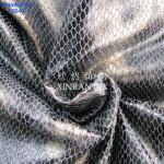 Camurça 100% de couro artficial do poliéster da tela F6048 com bronzagem do revestimento da folha