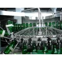 PLC Based Monoblock Glass Bottle Filling Machine For Soda water / Soft Drink
