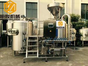 China Three Vessels Microbrewery Brewing Equipment , SS304 5HL Pro Brewing Equipment on sale