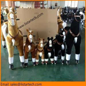China Walking Ride on Toy Horse, Action Pony Toy Go Without Battery, Moving Toy Horse-kid/adult wholesale