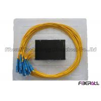 China 1x16 ABS Box PLC Splitter , FTTH Optical Fiber Splitter With SC Fiber Optic Connector on sale