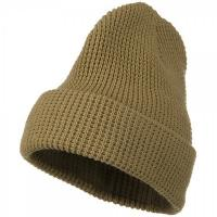Poly Wool Beanie Cap Winter Knit Ski Solid Warm Plain Men Women Skull Cuff Caps Hats