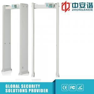 China Multi Zone metal detector 33 Detect 400 Sensitivity Zones Door Frame Metal Detector With Led Side Light Alarm on sale