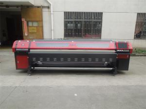 China 3.2m Solvent Printer Ourdoor Flex Banner Printing Machine with 4/8 Konica Heads on sale
