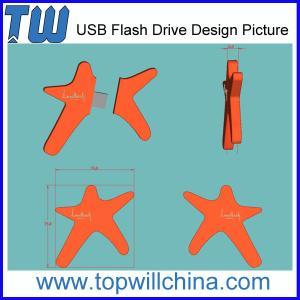 China Unique Custom PVC 8GB USB Flash Drive Design Company Brand Drive on sale