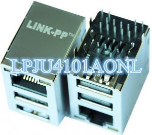 China XRJB-S-1-86-Z-K6-202 RJ45 Dual USB Connector LPJU4101AONL on sale