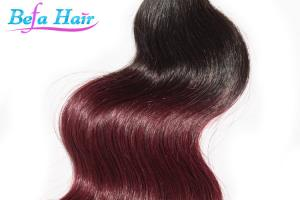 China 1b / 99J Human Hair Ombre Remy Hair Extensions Fast Shipping on sale