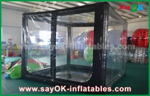 China Custom Black Inflatable Air Tent For Promotion Or Commercial Advertising on sale