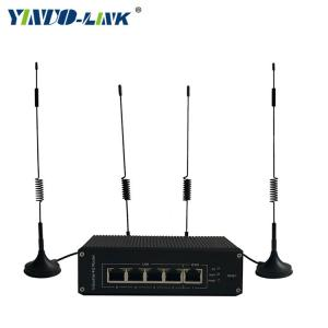 China Yinuo-link high speed OEM/ODM 5 port 100M industrial lte wifi router support openwrt on sale