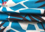 Waterproof Breathable Polyester Spandex Fabric / Printed Lycra Fabric For Bikini
