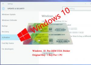 Quality CE Certification COA License Sticker / Windows 10 Professional Product Key for sale