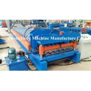 China Roofing Sheet / Roof Tile Roll Forming Machine With Hydraulic Cutting System on sale