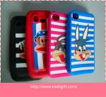 China Eco-Friendly Silicone Cell Phone Cases Colorful With Cartoon Style wholesale