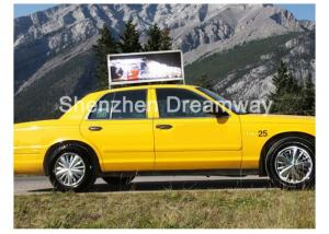 China P5 RGB SMD 3528 Outdoor Taxi LED Display Double Side Advertising For GIF SWF Animation on sale
