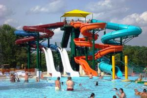 China Outdoor Adults Fiberglass Water Slides For Swimming Pools Of Spiral Slides on sale