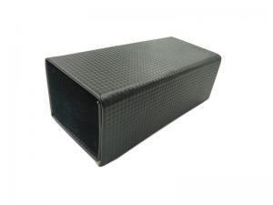 Quality Large Space Black Folding Eyeglasses Case PU Leather Available Eyewear Box for sale