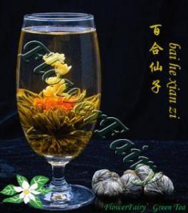 China Bai He Xian Zi Blooming Tea on sale