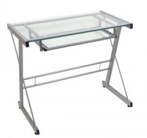 transparent modern tempered glass computer desks square 70w 50d rh glasscomputerdesk sell everychina com