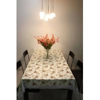 Hard Wearing PVC Table Cloths Eco-Friendly Flower Printed For Hotel