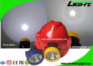 China Yellow / Blue Bezel LED Mining Cap Lamp 4000 Lux With Over - Discharging Protection on sale