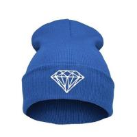 Casual Warm Winter Knit Caps For Men Embroidered , Knitted Beanie Hats