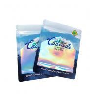 Customized Printing Plastic holographic laser film foil zip lock bags for Sponge/Brush Packing