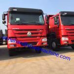 Red 10 Tires 336 hp EuroII 40T Diesel Fuel Type Dump Truck 6x4 With Steel Heavy Tipper