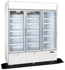 China 3 door display freezer, vertical glass door freezer, commercial refrigerator on sale