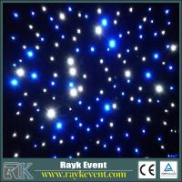 Blue+White led star curtain event stage decorations  high quality Led Star Cloth