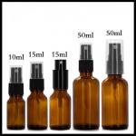 Amber Spray Essential Oil Glass Dropper Bottle 30ml 60ml 120ml Capacity