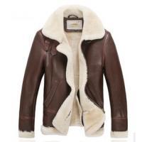 B3 Air Force safari sheepskin fur leather men short coat jacket