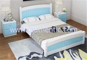 China Современный король Размер Сосна Кровать Апперансе, одиночные кровати деревянной рамки с ящиками on sale