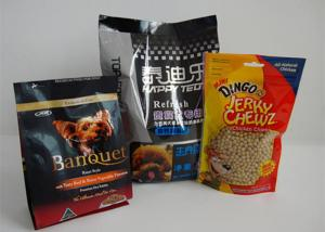 China Resealable Food Block Square Dog Food Package , Snack Food Packaging on sale