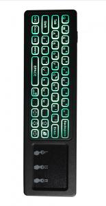 China Wireless Keyboard Rechargeable TV Remote Control With RGB Color Changing Backlit on sale
