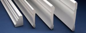 China Fireproof recyclable PVC skirting board profiles for Indoor Decoration on sale