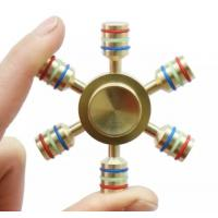 Brass EDC Hand spinner Hand Spinner 6 Spins Fidget Spinner DIY Ceramic Bearing Focus Toys Decompression Toy