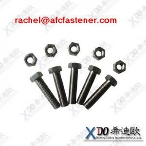 China stainless steel bolt 254SMO long hex nut on sale