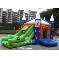 5in1 commercial grade kids crocodile inflatable combo game with slide for outdoor used