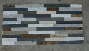 China 3D Ledgstone, pierre empilée, pierre naturelle de revêtement de dalle de mur d'ardoise/tuiles en pierre de culture on sale