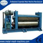 Expanded metal mesh flattening machine