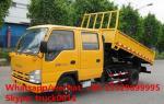HOT SALE best price ISUZU 4*2 LHD double cabs 3tons dump tipper truck, good price ISUZU 120hp diesel dump truck for sale