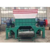 Two Shaft Car Tire Recycling Plant Waste Tyre Recycling Mchine Custom Color